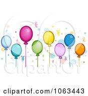 Clipart Party Balloon Border Royalty Free Vector Illustration