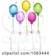 Clipart Birthday Balloon Banner Royalty Free Vector Illustration