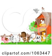 Clipart Farm Animals Background Royalty Free Vector Illustration
