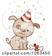 Clipart Birthday Dog Royalty Free Vector Illustration