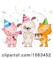 Clipart Birthday Party Animals Royalty Free Vector Illustration by BNP Design Studio