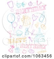 Clipart Birthday Doodle Collage Royalty Free Vector Illustration by BNP Design Studio