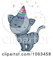 Clipart Birthday Cat Royalty Free Vector Illustration by BNP Design Studio