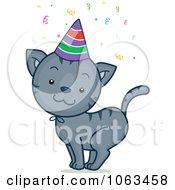 Clipart Birthday Cat Royalty Free Vector Illustration by BNP Design Studio