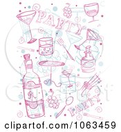 Clipart Party Doodle Collage Royalty Free Vector Illustration