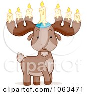 Clipart Passover Moose Royalty Free Vector Illustration by BNP Design Studio