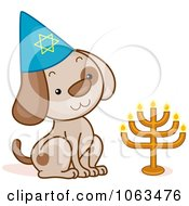 Clipart Passover Dog Royalty Free Vector Illustration