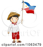 Clipart Filipino Independence Day Boy Royalty Free Vector Illustration