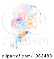 Clipart Surreal Background Of Bubbles On White Royalty Free Vector Illustration