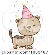 Clipart Birthday Ferret Royalty Free Vector Illustration by BNP Design Studio