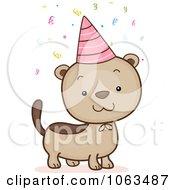 Clipart Birthday Ferret Royalty Free Vector Illustration by BNP Design Studio