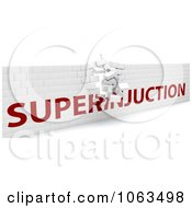 Clipart 3d Crumbling Superinjuction Wall Royalty Free CGI Illustration by KJ Pargeter