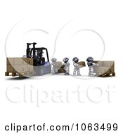 Clipart 3d Warehouse Robots Loading Boxes Royalty Free CGI Illustration by KJ Pargeter