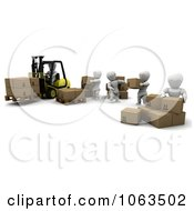 Clipart 3d White Character Warehouse Team Royalty Free CGI Illustration by KJ Pargeter