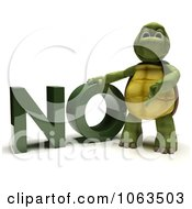 Clipart 3d Tortoise Standing By NO Royalty Free CGI Illustration
