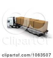 Clipart 3d Boxes On A Big Rig Royalty Free CGI Illustration