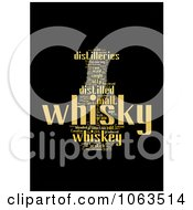Clipart Black And Yellow Whiskey Word Collage Royalty Free Illustration
