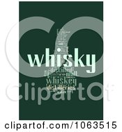 Clipart Green Whiskey Word Collage Royalty Free Illustration