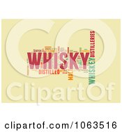 Clipart Whiskey Word Collage On Beige Royalty Free Illustration