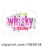 Clipart Whiskey Word Collage On White Royalty Free Illustration