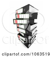 Clipart 3d Stacked Archival Ring Binders 2 Royalty Free CGI Illustration by stockillustrations