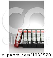 Clipart 3d Archival Ring Binders In A Row 1 Royalty Free CGI Illustration by stockillustrations