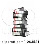 Clipart 3d Stacked Archival Ring Binders 1 Royalty Free CGI Illustration by stockillustrations
