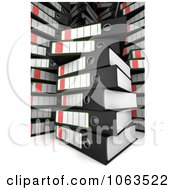 Clipart 3d Messy Stacks Of Archival Ring Binders Royalty Free CGI Illustration
