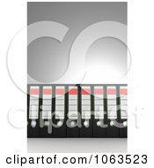 Clipart 3d Archival Ring Binders In A Row 2 Royalty Free CGI Illustration by stockillustrations