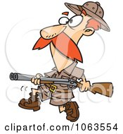 Clipart Big Game Hunter With A Rifle Royalty Free Vector Illustration by toonaday