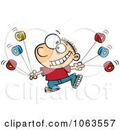 Clipart Talented Yo Yo Boy Boy Royalty Free Vector Illustration by toonaday
