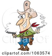 Clipart Shot Cowboy Royalty Free Vector Illustration