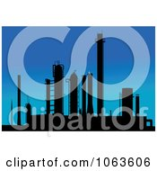 Clipart Factory At Dusk Royalty Free Vector Illustration