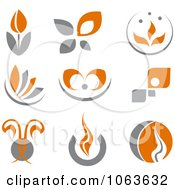Clipart Abstract Design Element Logos Digital Collage 7 Royalty Free Vector Illustration