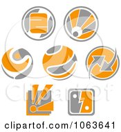 Clipart Abstract Design Element Logos Digital Collage 4 Royalty Free Vector Illustration