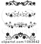 Clipart Black And White Flourish Borders Digital Collage 2 Royalty Free Vector Illustration