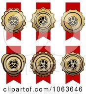 Clipart Ribbon Awards Digital Collage 1 Royalty Free Vector Illustration