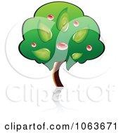 Clipart Fruit Tree Logo 2 Royalty Free Vector Illustration
