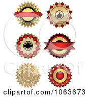 Clipart Blank Labels Digital Collage 1 Royalty Free Vector Illustration