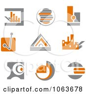 Clipart Abstract Design Element Logos Digital Collage 6 Royalty Free Vector Illustration