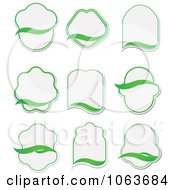 Clipart Blank Green Labels Digital Collage 2 Royalty Free Vector Illustration