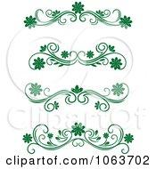 Clipart Green Flourish Borders Digital Collage 15 Royalty Free Vector Illustration