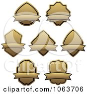 Clipart Blank Labels Digital Collage 4 Royalty Free Vector Illustration