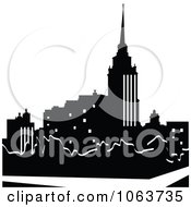 Clipart Silhouetted City Royalty Free Vector Illustration by Vector Tradition SM