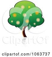 Clipart Fruit Tree Logo 1 Royalty Free Vector Illustration