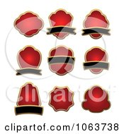 Clipart Blank Red Labels Digital Collage 1 Royalty Free Vector Illustration