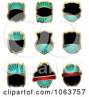 Clipart Blank Labels Digital Collage 2 Royalty Free Vector Illustration
