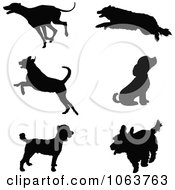 Clipart Silhouetted Dogs Royalty Free Vector Illustration by Maria Bell