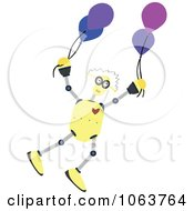 Birthday Robot With Balloons