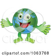 Clipart Happy Globe Welcoming Royalty Free Vector Illustration